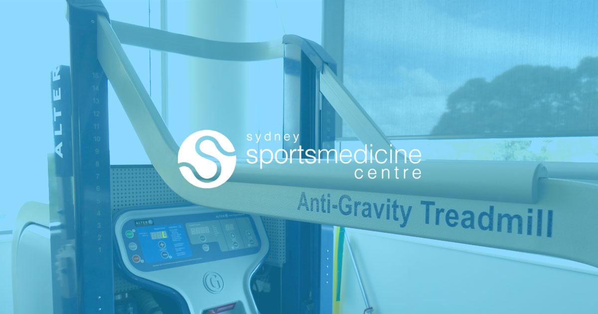 AlterG Anti Gravity Treadmill | Sydney Sports Medicine Centre